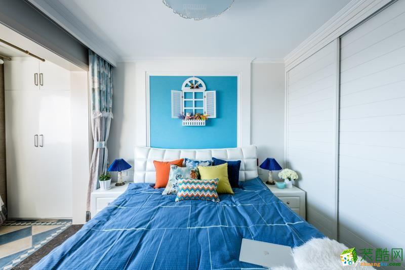 卧室 重庆90平米装修--佳天下装饰地中海风格三室一厅装修案例效果图赏析 【佳天下装饰】---奥园越时代