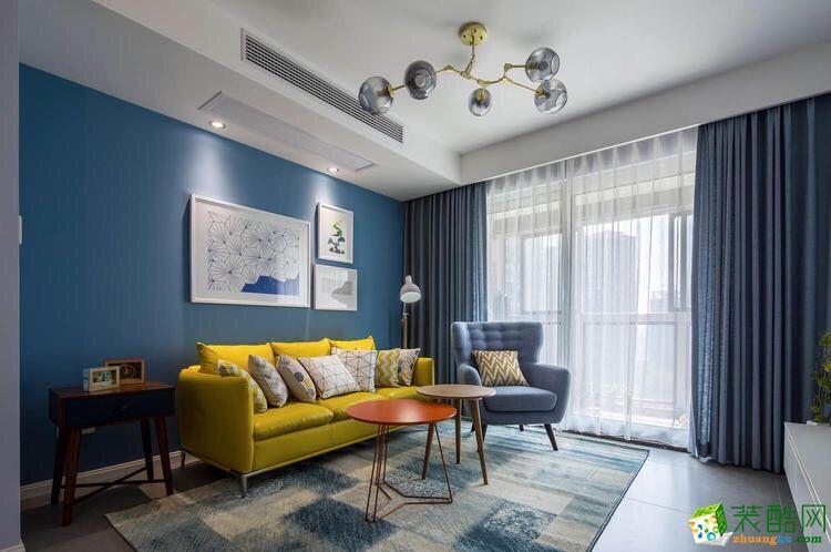 武汉116�O三室两厅装修―百步亭金桥汇现代简约风格设计作品