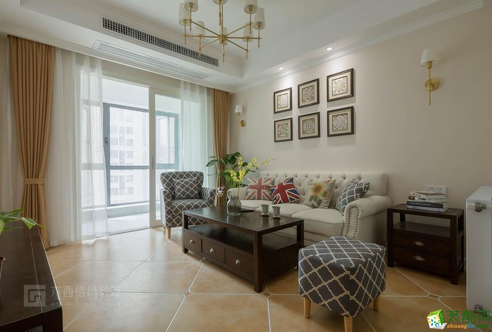 武汉85�O两室两厅装修―东湖城简美风格设计作品