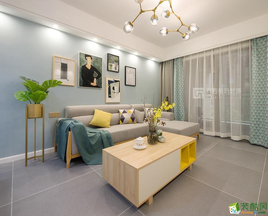 武汉103�O三室两厅装修―巴黎春天北欧风格设计作品