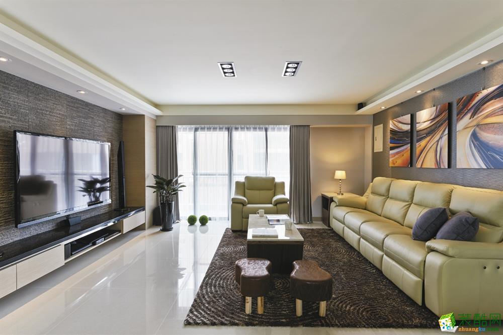 武汉104方三室一厅一卫装修―汉阳简约风格设计作品