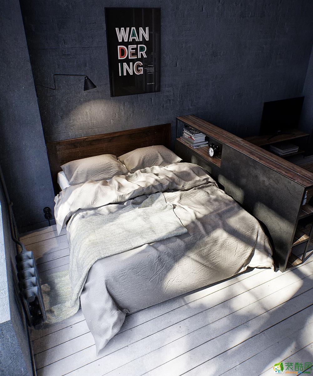 汉阳112�O三室一厅装修―广电兰亭工业风格设计作品