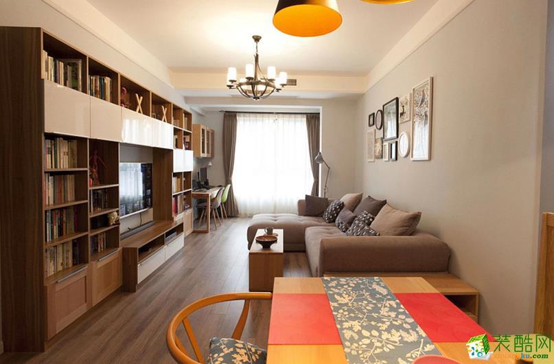 武汉75方两室一厅装修―汉阳金地澜菲溪岸北欧风格作品