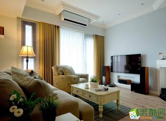 武汉105�O三室一厅装修―后湖汇悦天地美式风格设计作品
