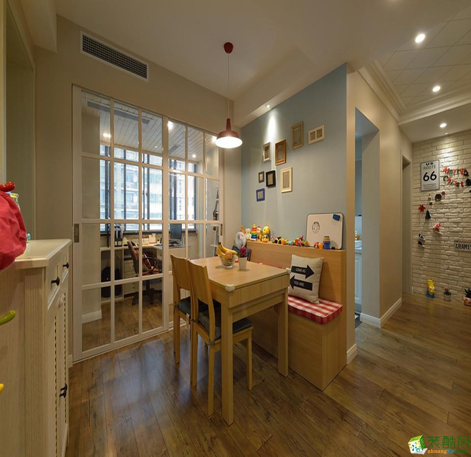 武汉124方三室两厅装修―盛世江城简美风格设计作品