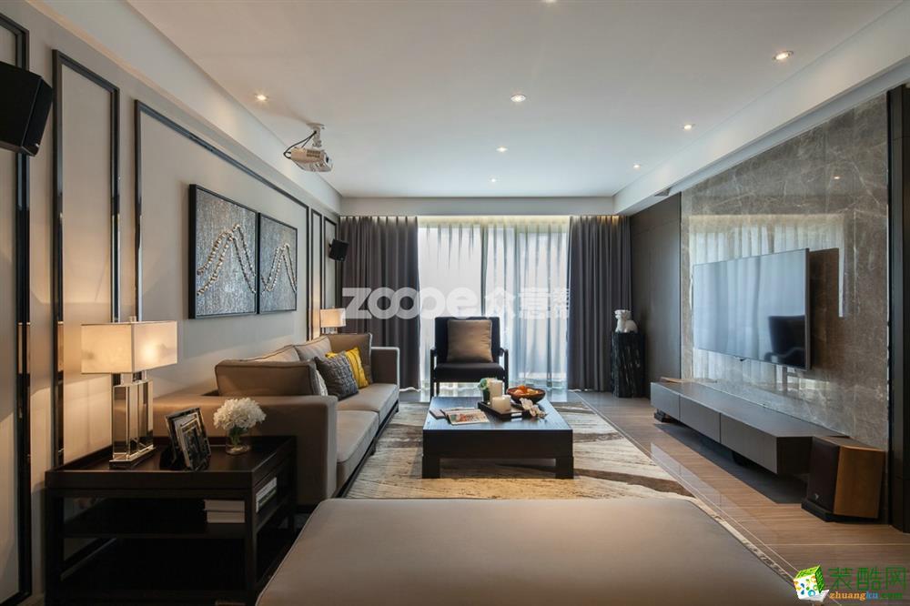 武汉126方三室两厅装修―韵湖首府简约风格设计作品