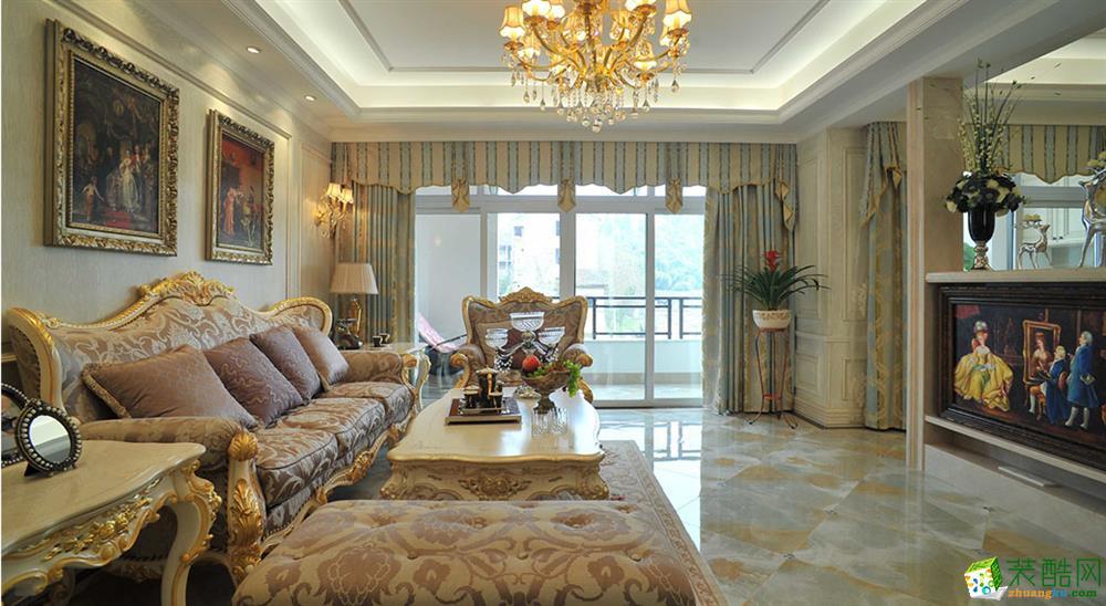 武汉98方三室一厅装修―广电兰亭时代欧式风格设计作品