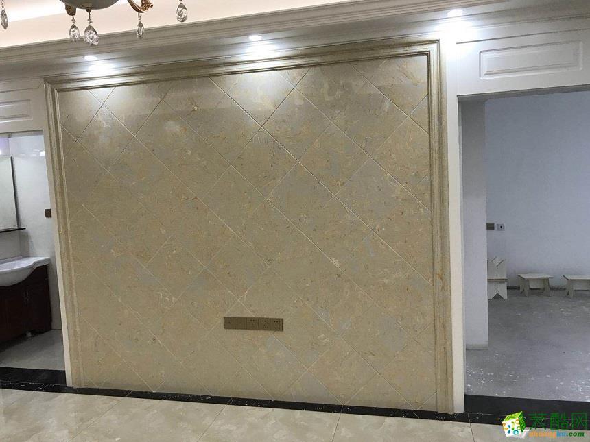 武汉91�O三室一厅装修―保利中央公馆欧式风格作品