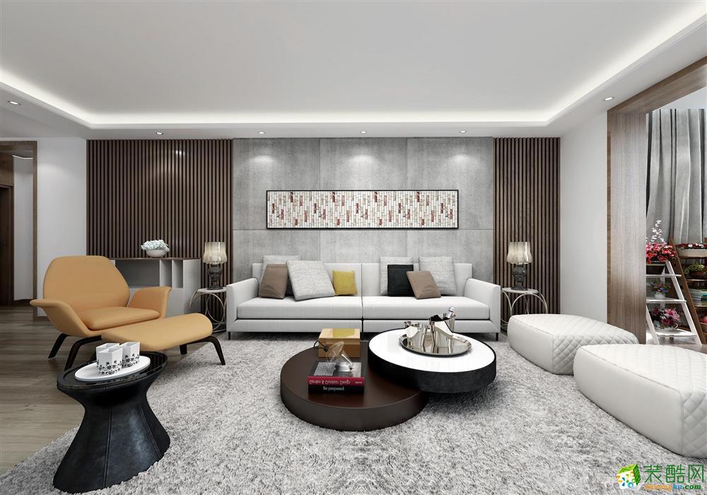 武汉95方三室一厅装修―汉阳保利时代简约风格作品
