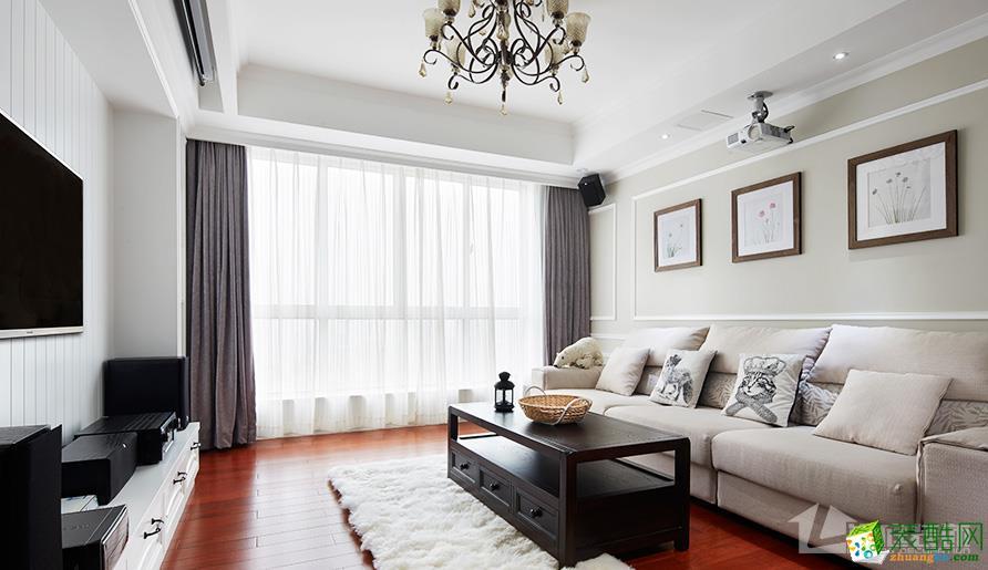 武汉120方三室两厅装修―花样年花样城简欧风格设计作品
