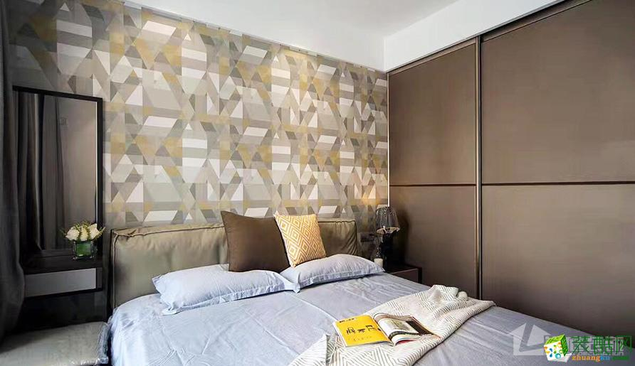 武汉100�O三室一厅装修―保利时代现代简约风格设计作品