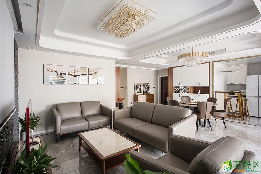 杭州150方三室两厅装修―大成名座现代轻奢风格设计作品