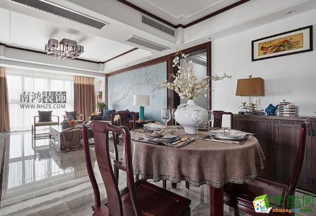 杭州128方三室两厅装修―江干区尚城国际新中式风格设计作品