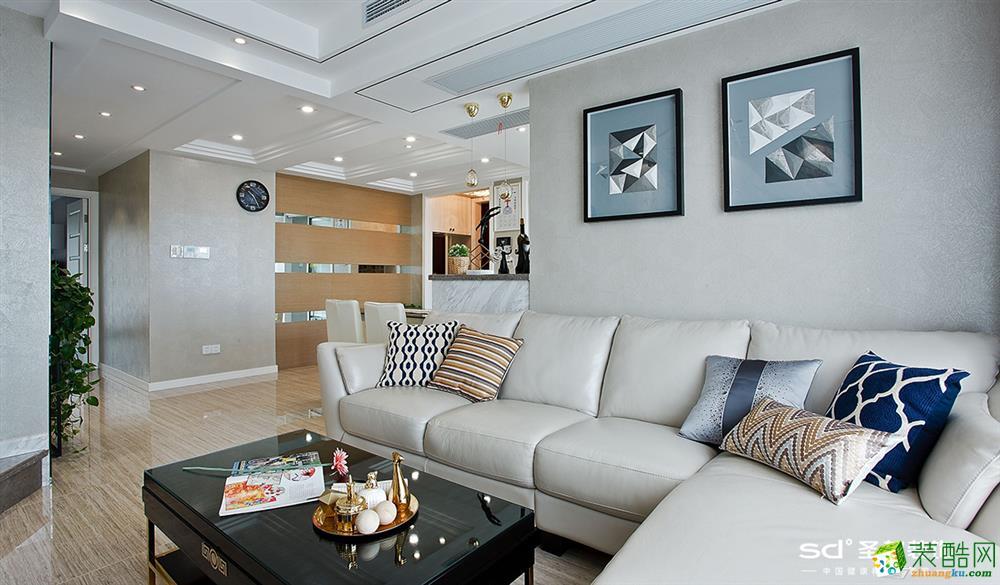 杭州142方三室两厅装修―萧山名门世家简约风格设计作品