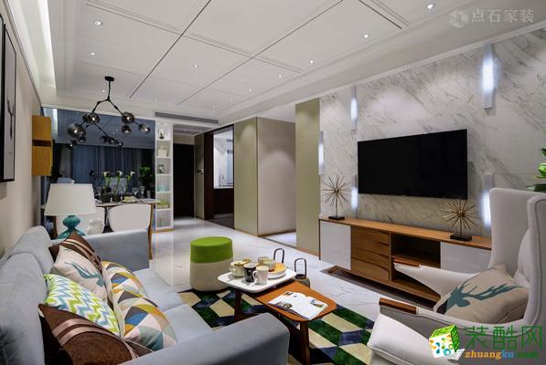 贵阳135平米装修-溪景御园三室两厅装修案例效果图