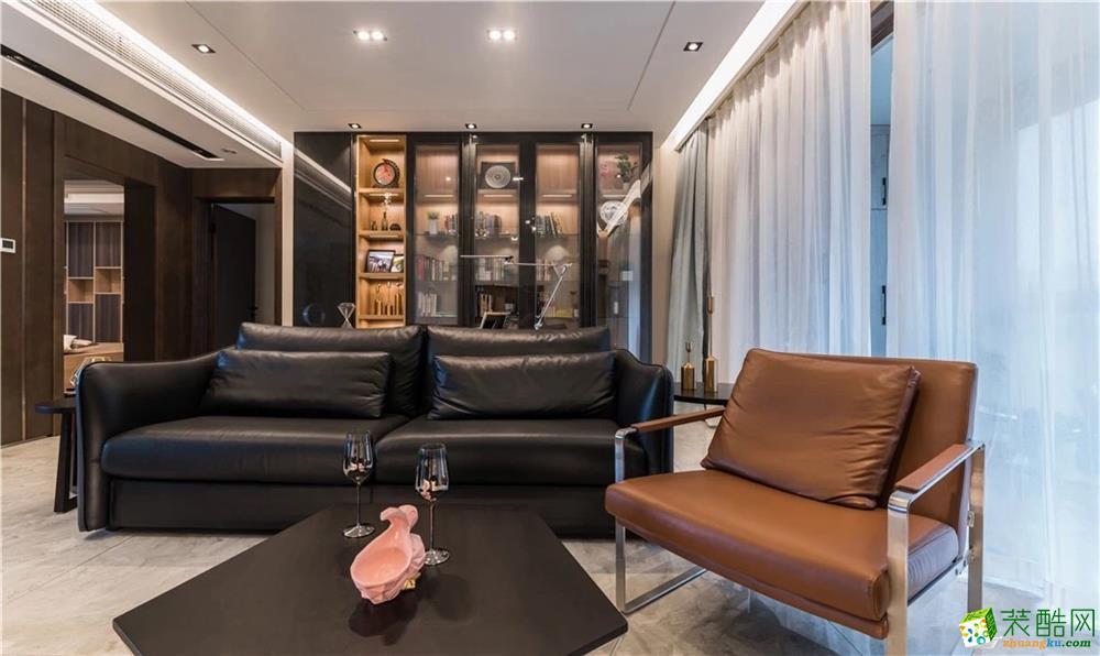 客厅  新传奇装饰-125平简约风高质感装修效果图