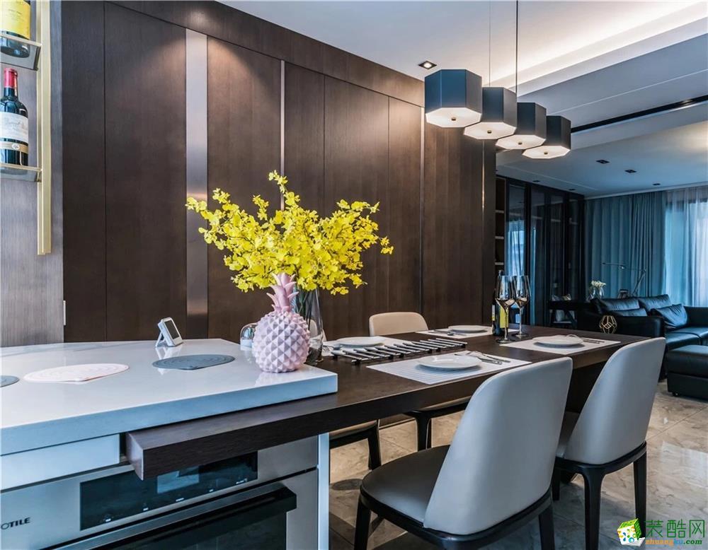 餐厅  新传奇装饰-125平简约风高质感装修效果图
