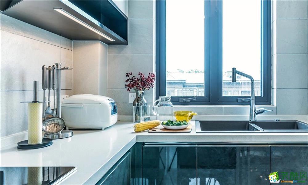 厨房  新传奇装饰-125平简约风高质感装修效果图
