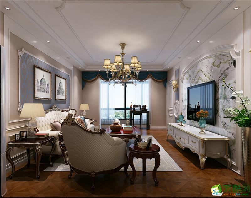 107平三室一厅一卫欧式风格装修效果图