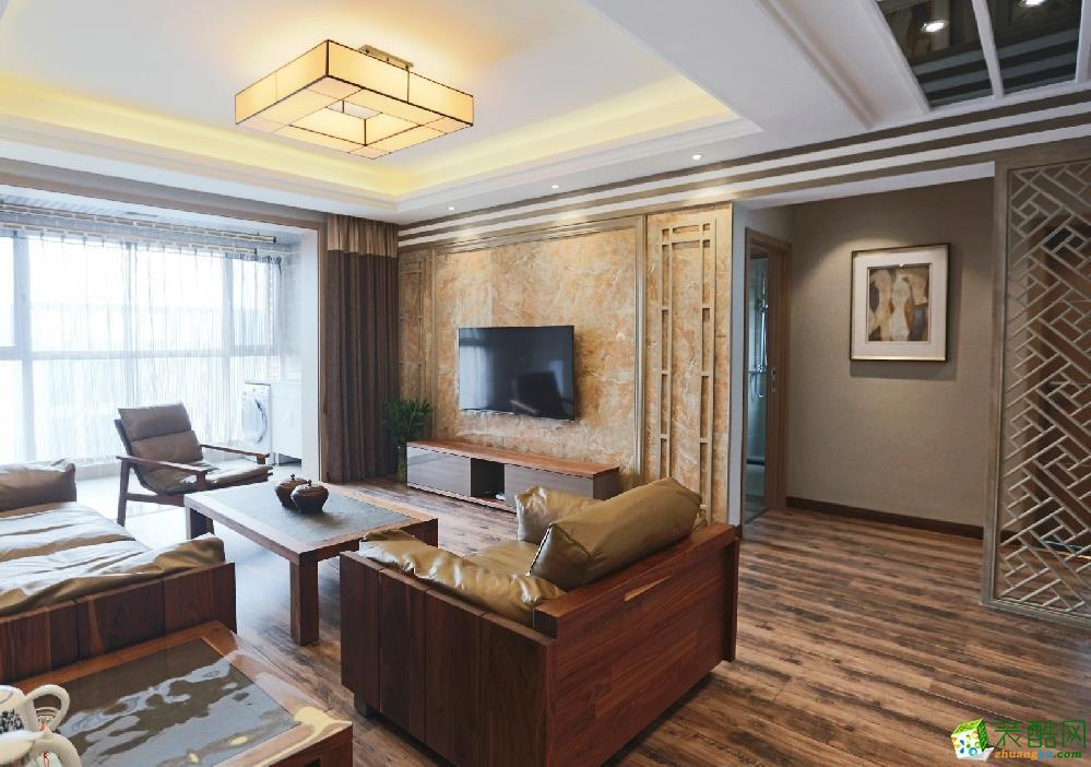 【世界之窗装饰】翡翠名园110平米现代风格装修案列