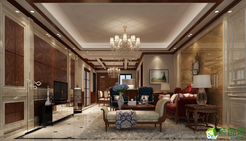 【世界之窗装饰】丽景水岸128平中式风格装修案列