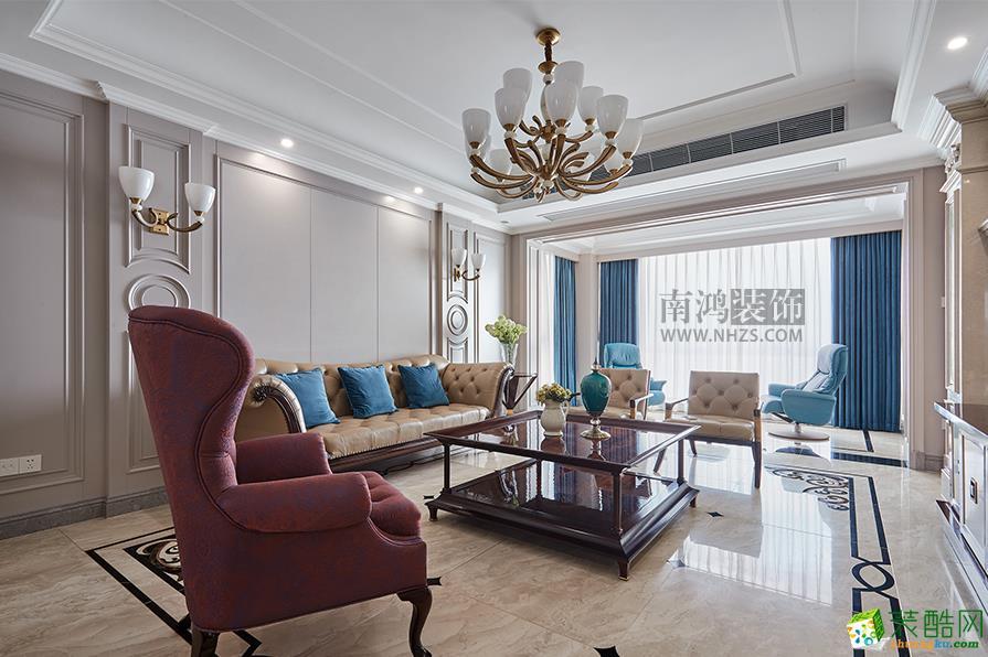  南鸿装饰 悦麒美寓260平法式风格设计作品