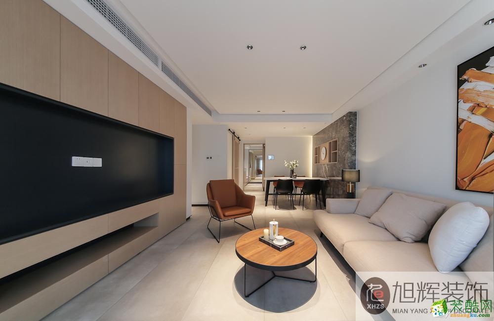 绵阳120方三室两厅装修―温莎国际现代简约风格设计作品