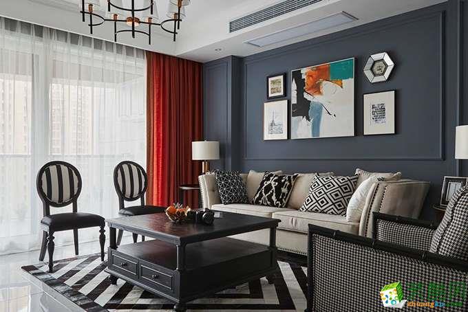 绵阳136方三室两厅装修―树高卡地亚混搭风格设计作品