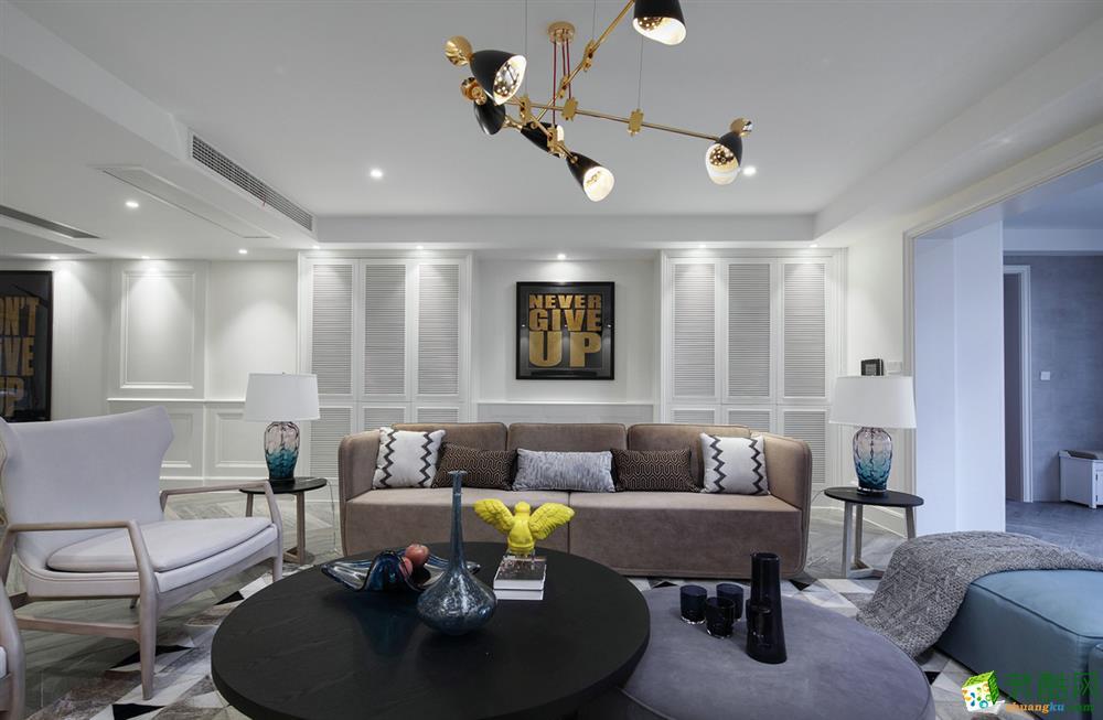绵阳135方三室两厅装修―英郦庄园现代风格设计作品