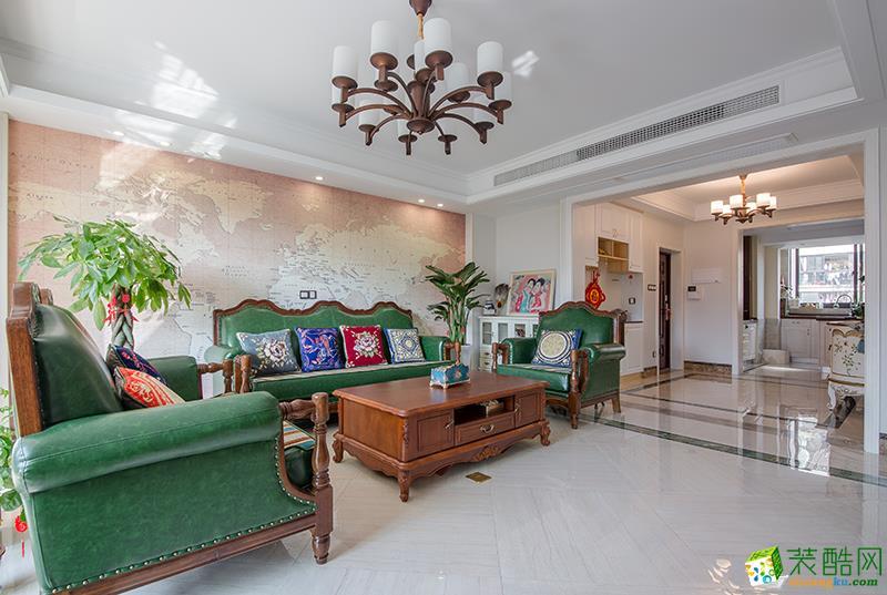 苏州130方三室两厅装修―混搭风格个性时尚作品