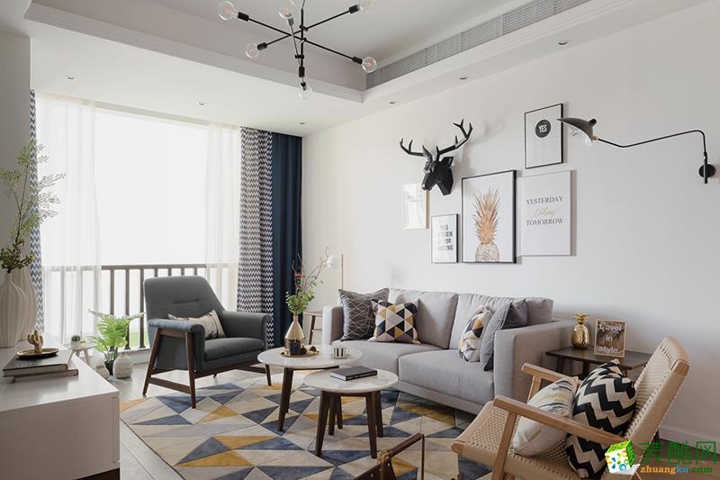 苏州83方两室一厅装修―北欧风格设计装修作品