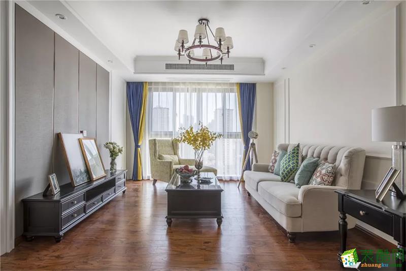 苏州102�O三室一厅装修―美式风格装修设计作品