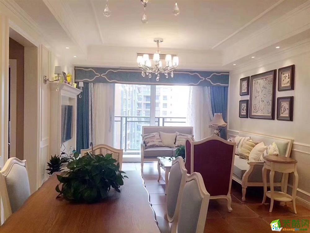 126平美式风装修效果图-天汇龙城_美式风格-三室两厅两卫