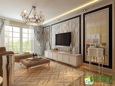 苏州128�O三室两厅装修―山湖一号混搭风格设计作品