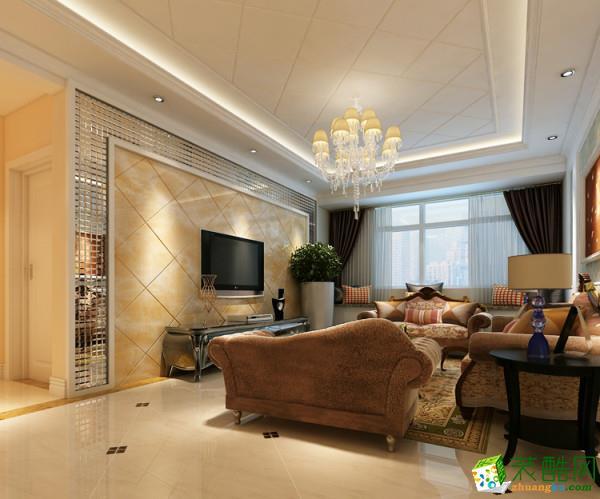 苏州89方两室一厅装修―水韵花都简欧风格设计作品