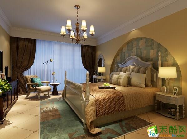 苏州132方三室两厅装修―平江怡景美式风格设计作品