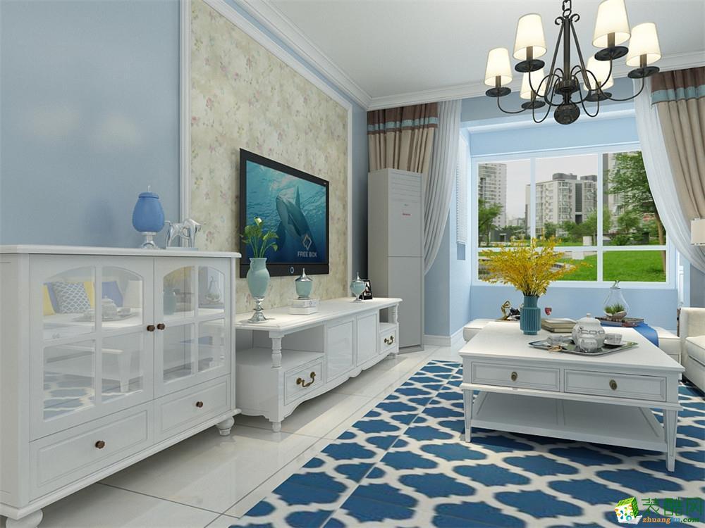 客厅 天津90平米两室两厅装修—枫桦园 现代风格设计案例 天津90平米