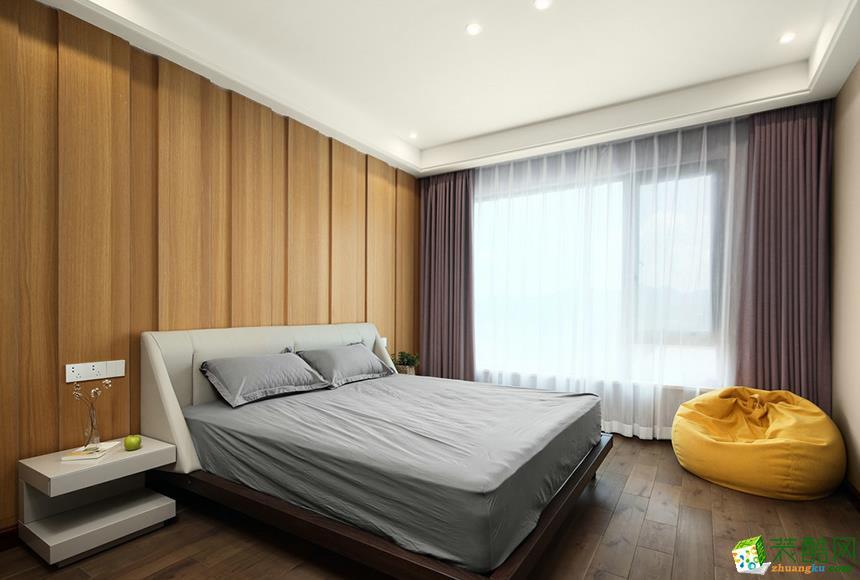 岳阳乔木装饰-115平米现代简约三居室装修案例