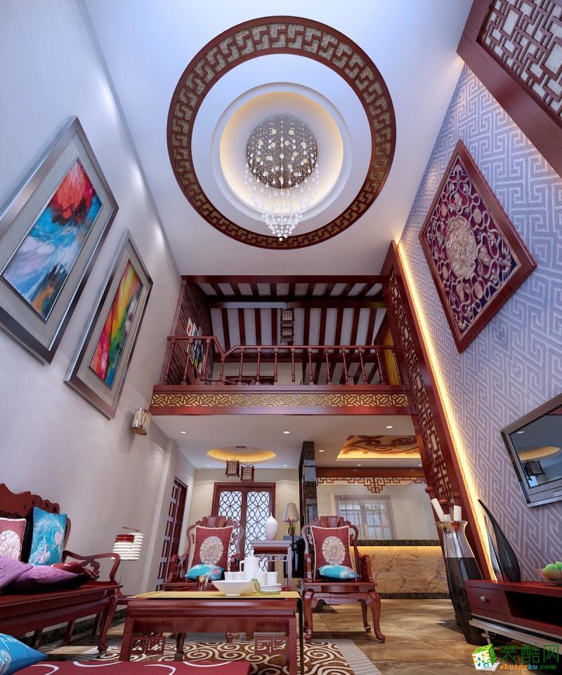 桂林320平米别墅装修―耀和荣裕李府中式风格设计案例