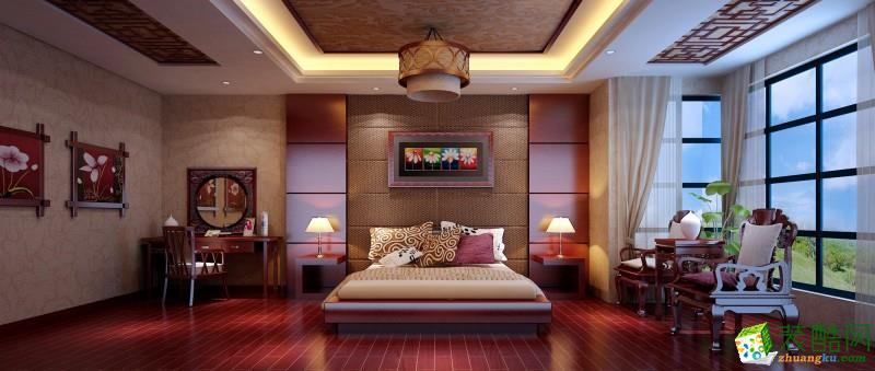 桂林320平米别墅装修—耀和荣裕李府中式风格设计案例_中式风格-别墅花园
