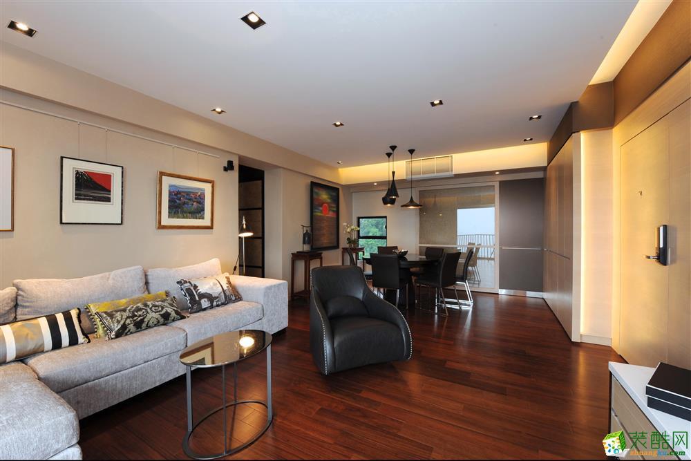 合肥87平米两室一厅装修—华地紫园简约风格设计作品