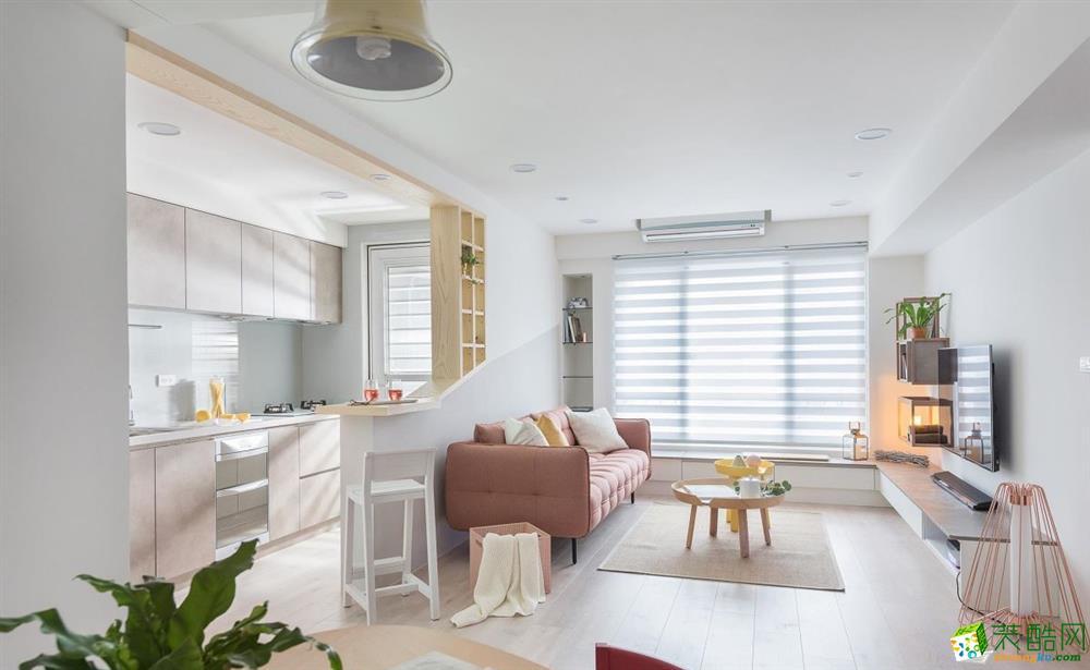 海宁90平米三室一厅装修―月亮湾温馨北欧设计作品