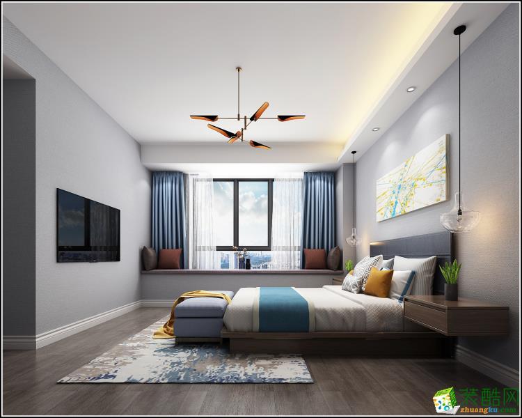 海宁138平米三室两厅装修―江南饰家现代简约风格设计作品