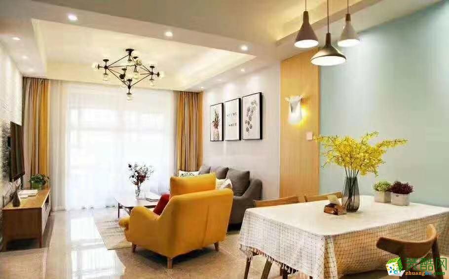 杭州89平米两室两厅装修―罗兰香谷北欧风格设计作品