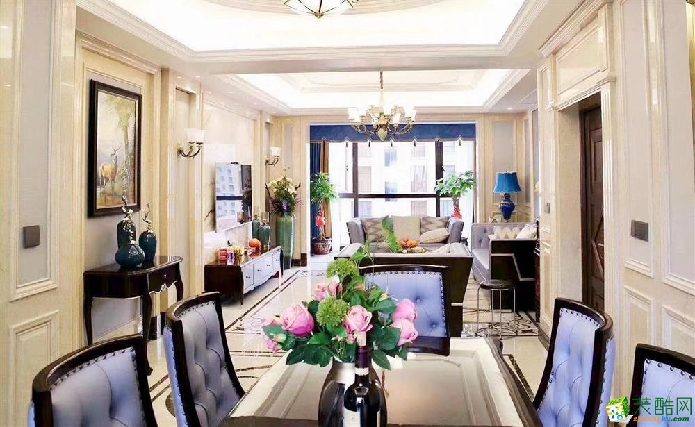 杭州110平米四室两厅装修―九龙产碧玺欧式风格设计作品