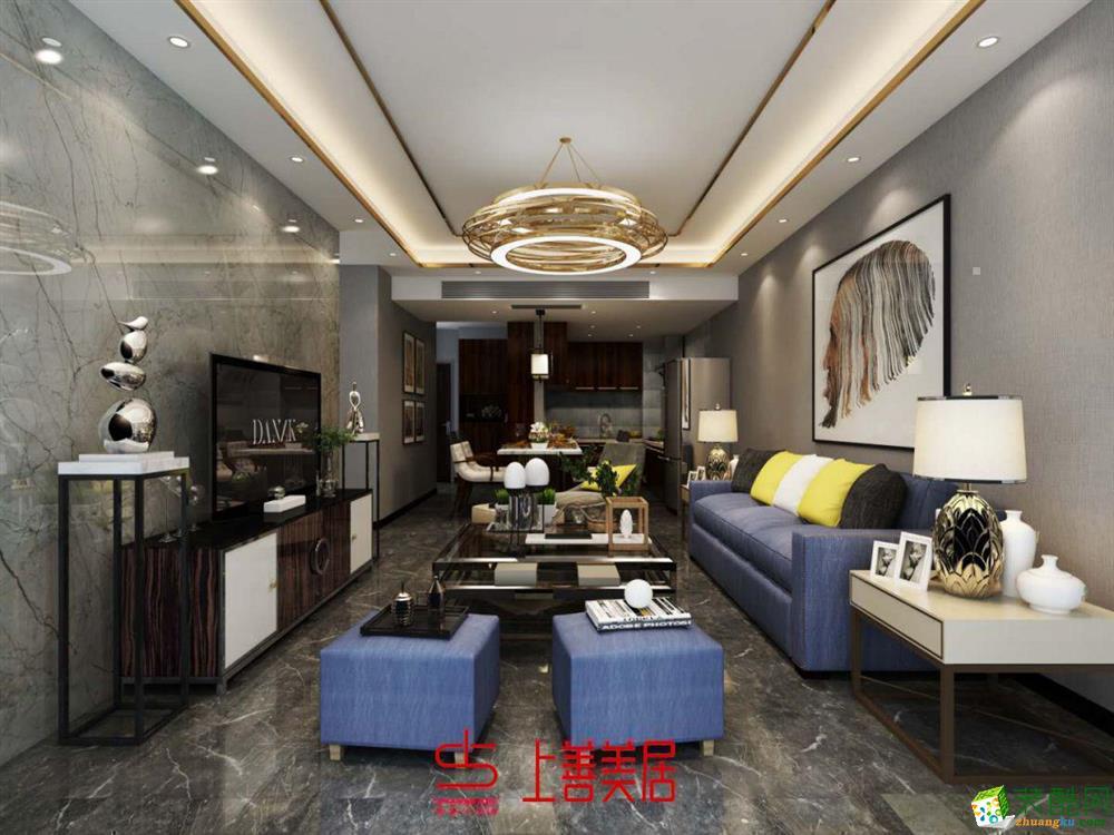 成都93平米装修--上善美居装饰 港式风格三室两厅装修案例效果图
