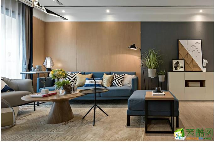 【换新工场装饰】山语清晖花园现代简约风格装修案列_现代风格-两室两厅一卫