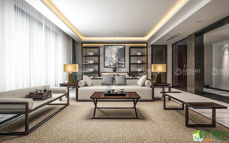 苏州280平米别墅装修―【红蚂蚁】龙湖九墅新中式风格设计作品