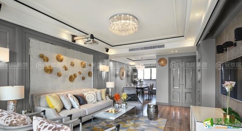 苏州132平米三室两厅装修―东方海悦花园美式风格设计作品