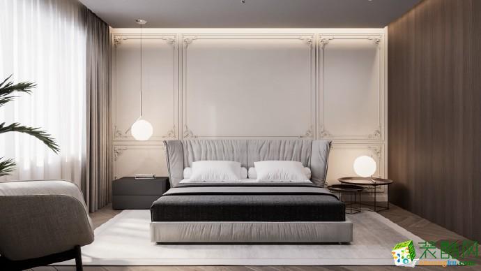 十堰130平米三室两厅两卫装修―东方明都简约风格设计作品
